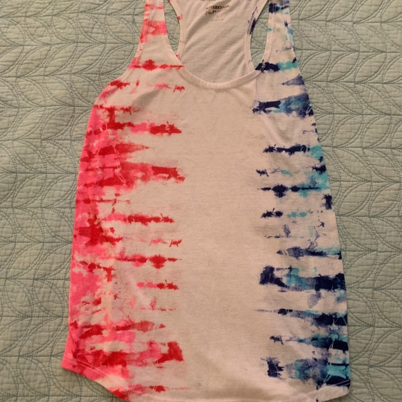 Tops - Pink and Blue Tie Dye Tank Top